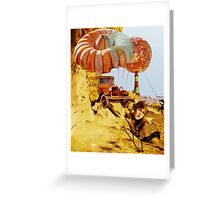 Screaming Sisters Making Weather. Greeting Card