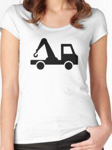 Towing car wrecker Women's Fitted Scoop T-Shirt