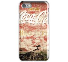 Vintage Coca-Cola Sign iPhone Case/Skin