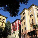 Perugian apartment blocks. by Philip Mitchell