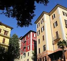 Perugian apartment blocks. by Philip Mitchell