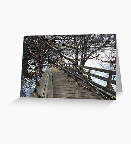 Wooden Stairs in Edmonton Greeting Card