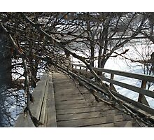 Wooden Stairs in Edmonton Photographic Print