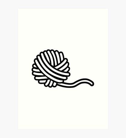 Knitting wool Art Print