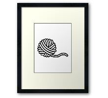 Knitting wool Framed Print