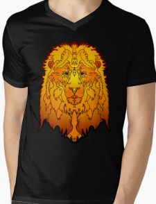 Big Lion Mens V-Neck T-Shirt