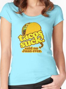 Funny - Tacos Suck! (vintage distressed look) Women's Fitted Scoop T-Shirt