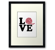 Wool knitting love Framed Print
