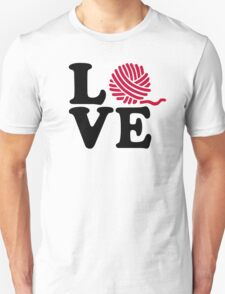 Wool knitting love Unisex T-Shirt