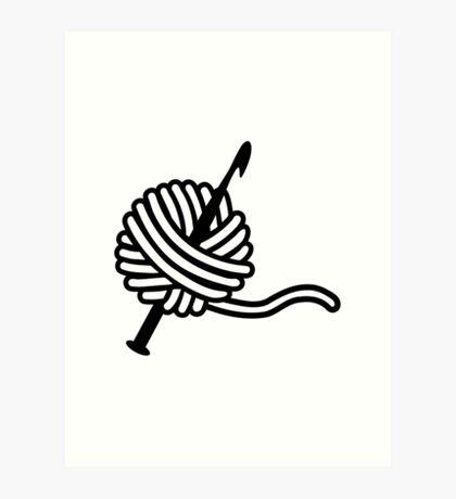 Crochet wool needle Art Print