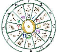 Zodiac Wheel by meetmaria