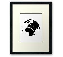 Globe world Framed Print