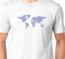 World map pixel Unisex T-Shirt