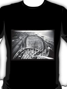 """""""The Cyclone"""" Roller Coaster, Revere Beach - North negative T-Shirt"""