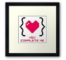 Romantic Curly Braces Framed Print