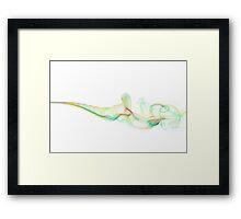 Pastel Smoke Framed Print
