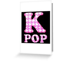 KPOP - PINK HOUNDSTOOTH Greeting Card