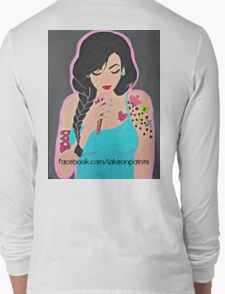 Lakeon Paints tattooed painter girl Long Sleeve T-Shirt