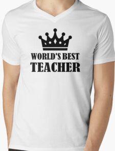 World's best teacher Mens V-Neck T-Shirt