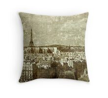 Faded Memories-Paris Throw Pillow