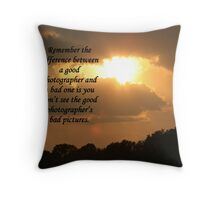 A Photographers Creed Throw Pillow