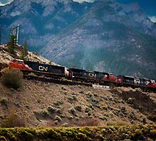 Freight Train, Lillooet, British Columbia by Yannik Hay