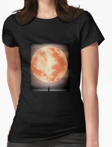 Bloodborne Moon Womens Fitted T-Shirt