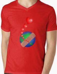 Global Awareness Mens V-Neck T-Shirt