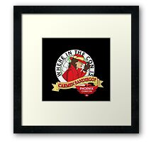 WHERE IN THE CON IS CARMEN SANDIEGO Framed Print