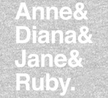 Anne & Diana & Jane & Ruby. One Piece - Long Sleeve