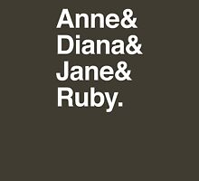 Anne & Diana & Jane & Ruby. Womens Fitted T-Shirt
