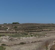 A view of the valley below San Dimitri chapel in Gozo by Elvio Spiteri