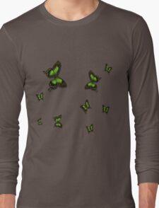 Green Butterflies Long Sleeve T-Shirt