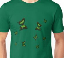Green Butterflies Unisex T-Shirt