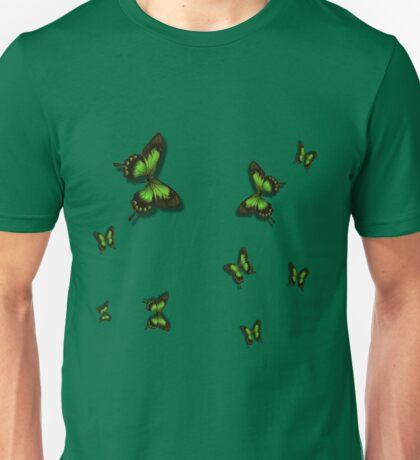 Green Butterflies Unisex T-Shirt