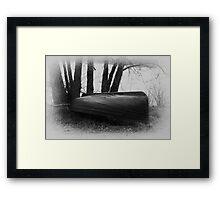Stored for winter Framed Print