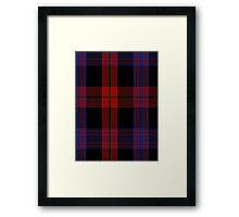 00406 Brown Tartan  Framed Print