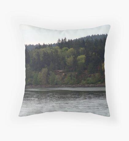 Island Forest Throw Pillow
