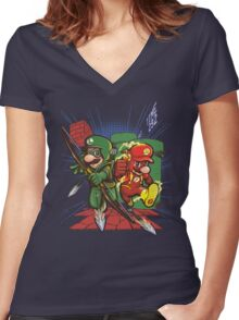 SuperSuits Women's Fitted V-Neck T-Shirt
