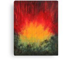 Fire melt - abstract Canvas Print