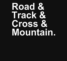 Bicycling Styles - Road, Track, Cross, Mountain Unisex T-Shirt