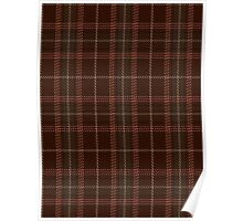 00404 Beanpole Brown Trial Tartan Poster