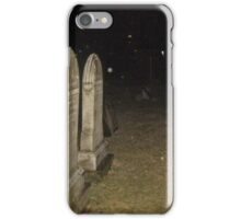 When Snow Falls Up?  - Cemetery at Night iPhone Case/Skin