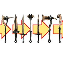Skyrim - Dragonbone Weapons by sansasnark