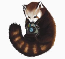 Red Panda With Camera Kids Clothes