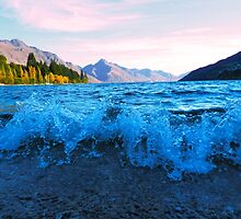 Lake Wakatipu on the shores of Queenstown by BrockstarDesign