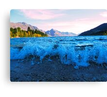 Lake Wakatipu on the shores of Queenstown Canvas Print