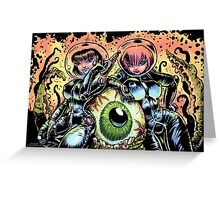 ALIEN EYE & SPACE BABES Greeting Card