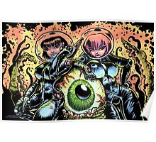ALIEN EYE & SPACE BABES Poster
