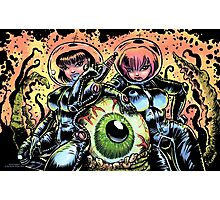 ALIEN EYE & SPACE BABES Photographic Print
